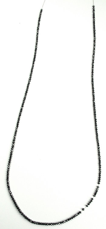 Necklace with black diamonds
