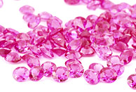 Sapphire (pink - round - calibrated)