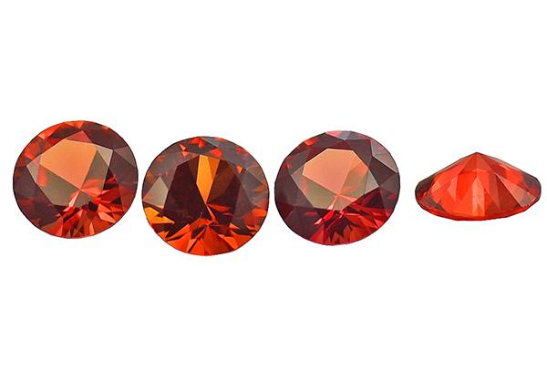 Sapphire (orange-red treated)