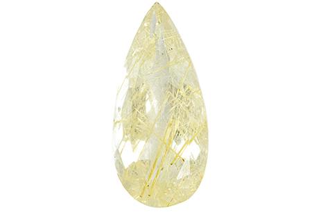 Quartz with golden rutile