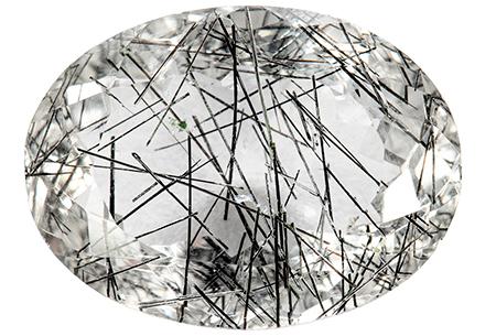 Quartz - tourmaline noire - 11.31ct