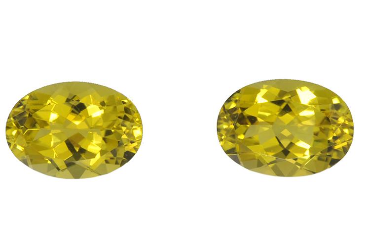 Canary Tourmalines pair