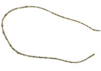 Necklace with rough diamonds