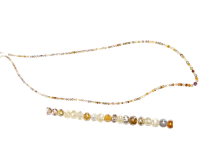 Necklace with multicolours diamonds