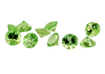 Garnet - tsavorite (round - diamond cut)