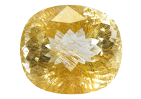 Quartz with golden rutile