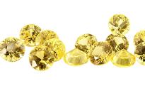 Sapphire (yellow - round -  calibrated)