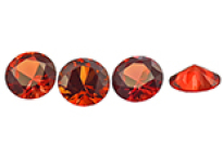 Sapphire (orange-red treated)
