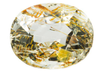 Topaz with inclusions