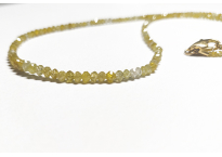 Necklace with yellow diamonds