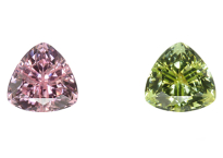 Tourmalines pair 3.53ct from Namibia and Afghanistan