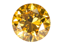 natural fancy intense yellow diamond 0.52ct